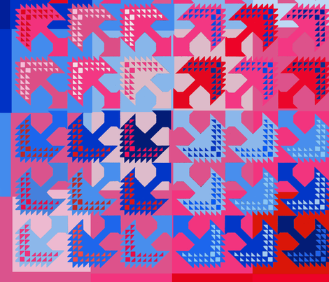Inca Aves fabric by vagabond_folk_art on Spoonflower - custom fabric