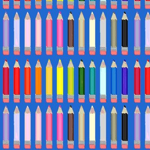 Back to School - colored pencils