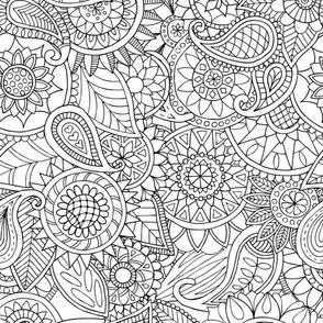Doodle Mania - Paisley