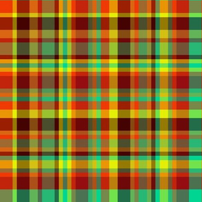 BN12 -  Hot and Cold plaid - large