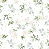 Watercolour Greenery and Roses
