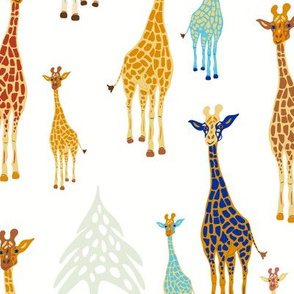 Giraffe of a Different Color-White background
