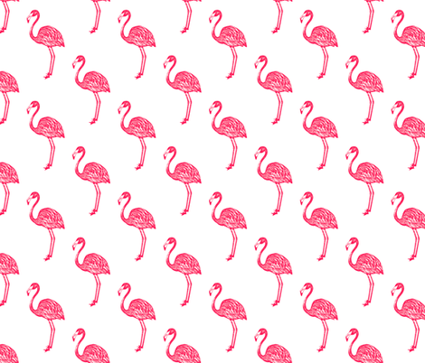 American Flamingo (pink) fabric by thewallpaperfiles on Spoonflower - custom fabric