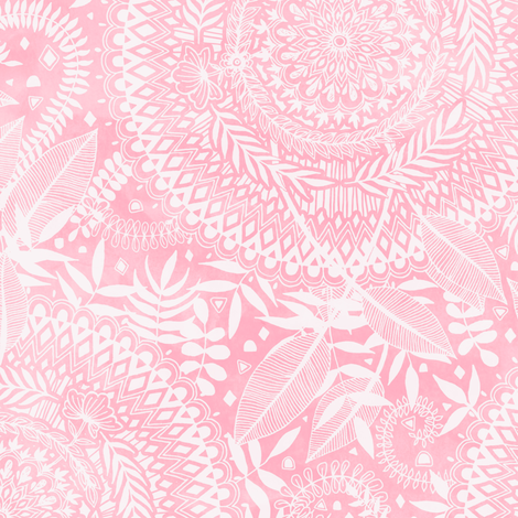 Medallion Pattern in Blush Pink fabric by micklyn on Spoonflower - custom fabric