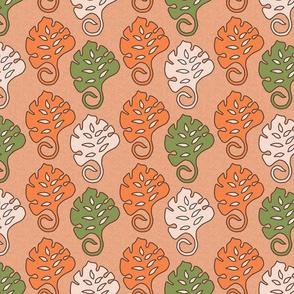 Tiki leaves medium green orange