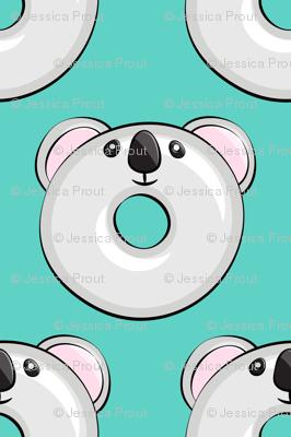 koala donuts - teal