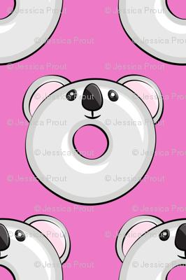 koala donuts - hot pink