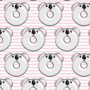 koala donuts - pink stripes