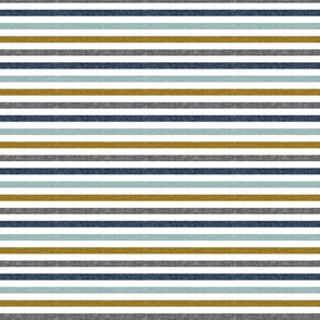 (small scale) multi stripes || with gold