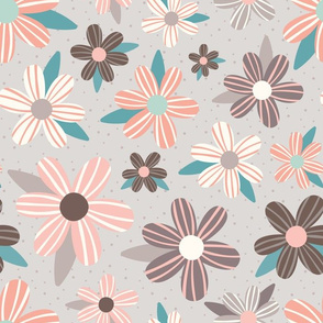Pink and Taupe Flowers