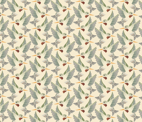 hummingbird fabric by hannafate on Spoonflower - custom fabric