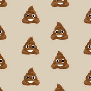 poop emoji cute funny fabric tan