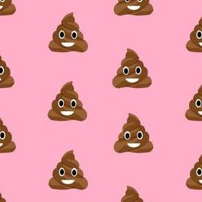 poop emoji cute funny fabric med pink