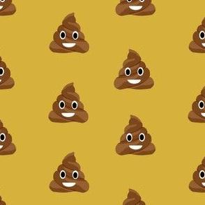 poop emoji cute funny fabric yellow
