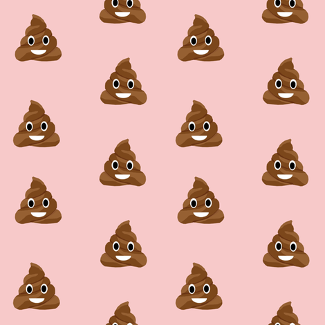 poop emoji cute funny fabric pink fabric by charlottewinter on Spoonflower - custom fabric