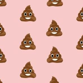 poop emoji cute funny fabric pink
