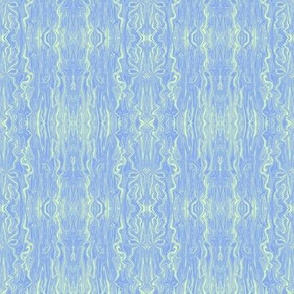 BFM28 - Pastel Blue Butterfly Marble Brocade