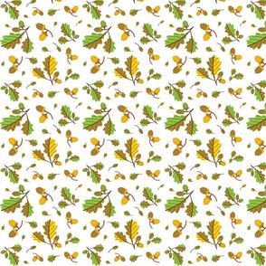 green acorn pattern
