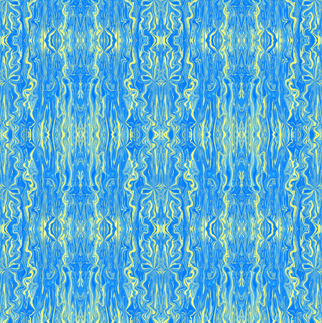 BFM26 - Yellow and Blue Butterfly Marble Brocade fabric by maryyx on Spoonflower - custom fabric