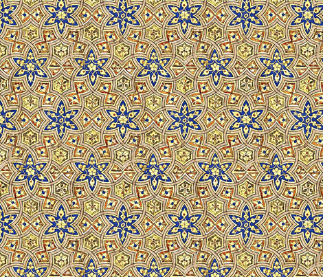 Persian Stars fabric by amyvail on Spoonflower - custom fabric