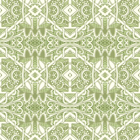 Why Am I Thinking About Mint Ice Cream fabric by edsel2084 on Spoonflower - custom fabric