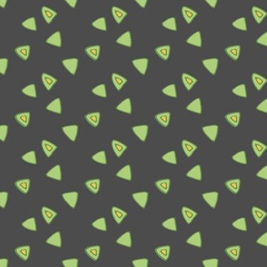Birds in the sky - Green triangle dark grey