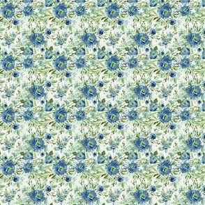 "1.5"" Blue Meadow Florals - Blue"
