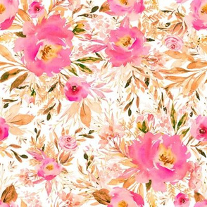 "8"" Faded Pink Meadow Florals"
