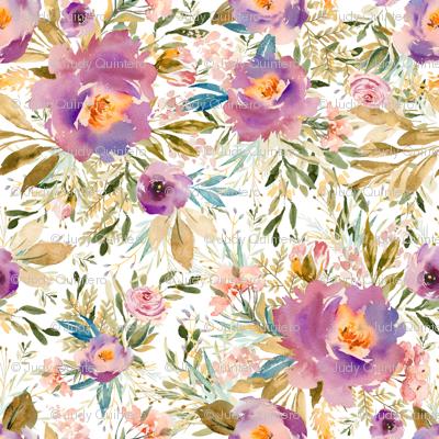 "1.5"" Lilac Blue Meadow Florals"