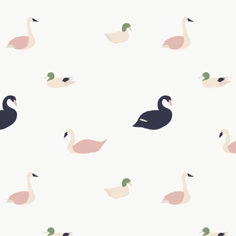 Birds / Swan, Duck, Goose / Maison de Fleurs Collection fabric by julia_dreams on Spoonflower - custom fabric
