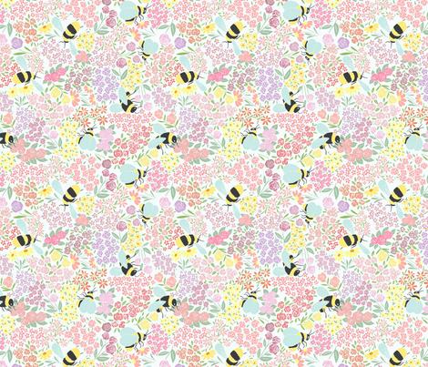bees in the meadow fabric by laurenadams on Spoonflower - custom fabric