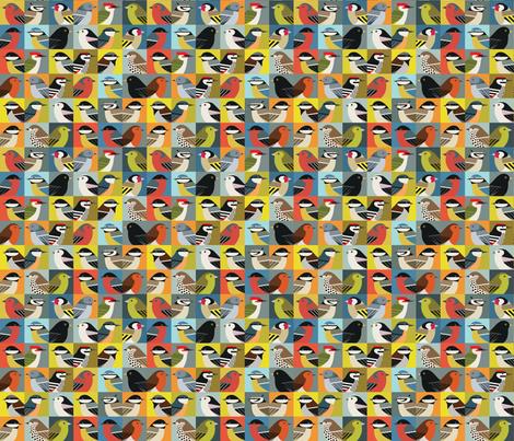 Multibirds fabric by zaffra on Spoonflower - custom fabric