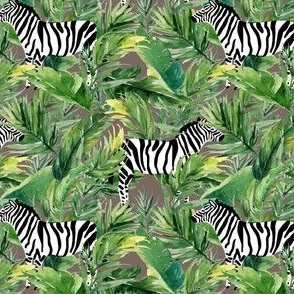 "4"" Zebra with Leaves - Dark Tan"