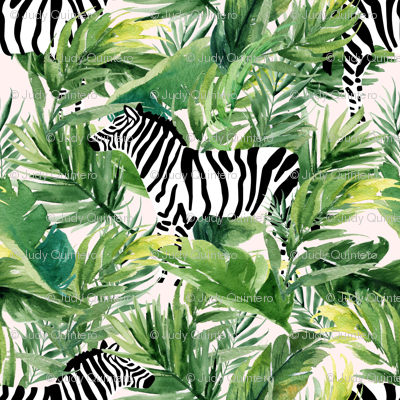 """4"""" Zebra with Leaves - Ivory"""