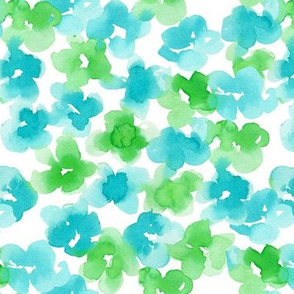 ocean floral-blue green