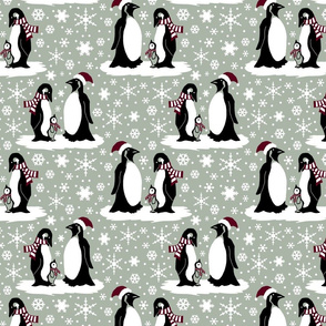 Elegant holiday penguins