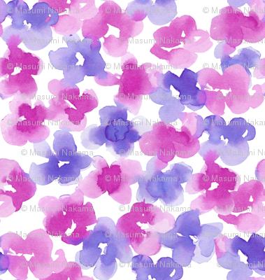 ocean floral-mauve