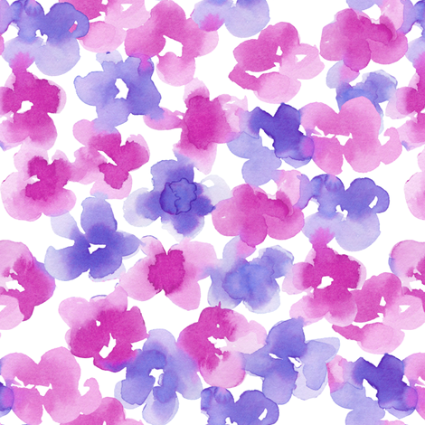 ocean floral-mauve fabric by paintedwind on Spoonflower - custom fabric