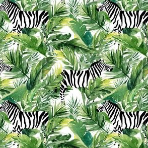 "4"" Zebra with Leaves - White"