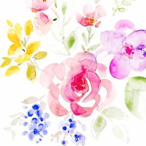 watercolor floral buquet