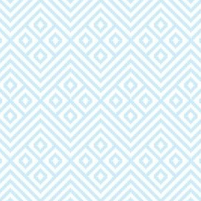 Blanket Diamond Geometric Baby Blue