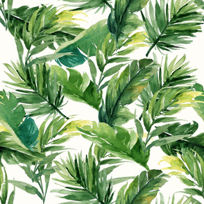 "21"" Leaves with Bright Cream Background"