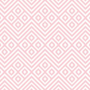 Diamond Geometric Blanket Light Pink