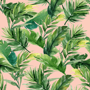 "21"" Leaves with Peach Background"