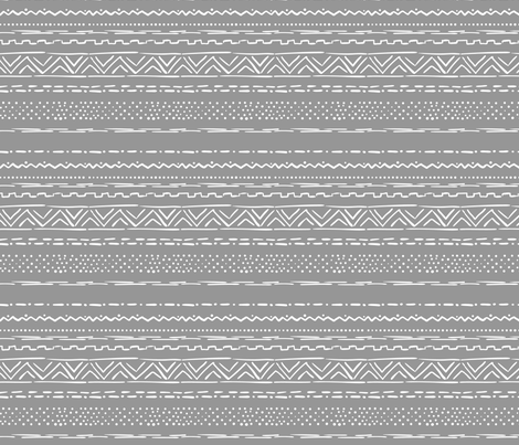 Sketched Geometric Stripe fabric by electrogiraffe on Spoonflower - custom fabric
