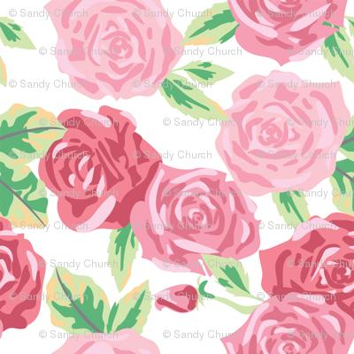 Rose Floral - Large