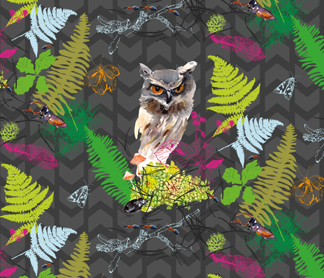 Flying without a sound fabric by freudenwerkstatt on Spoonflower - custom fabric
