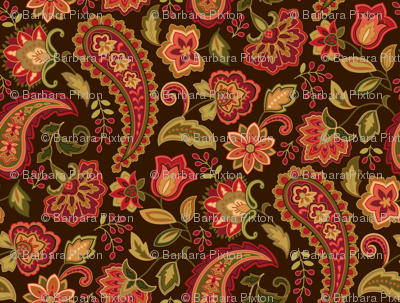 Paisley Paradise Red