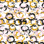 Abstract Circles Pastell Gold