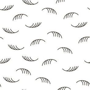 Abstract geometric lashes and feathers fashion design pattern
